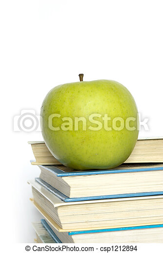 livres, pomme - csp1212894