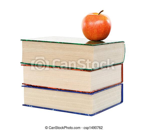 livres, pomme - csp1490762
