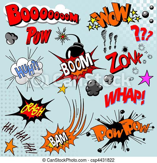livro cômico, explosão - csp4431822