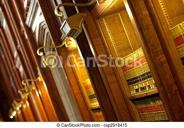 livro lei, biblioteca - csp2918415
