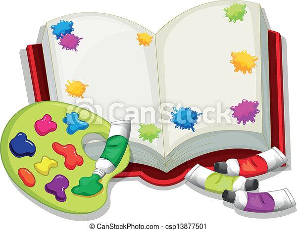 livro, vazio - csp13877501