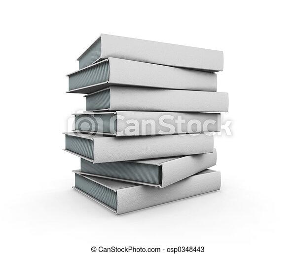 livros, pilha - csp0348443