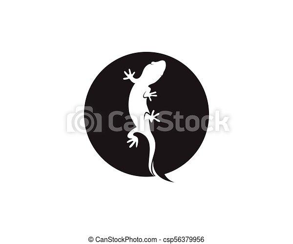 lizard chameleon gecko silhouette black vector 10 clipart vector