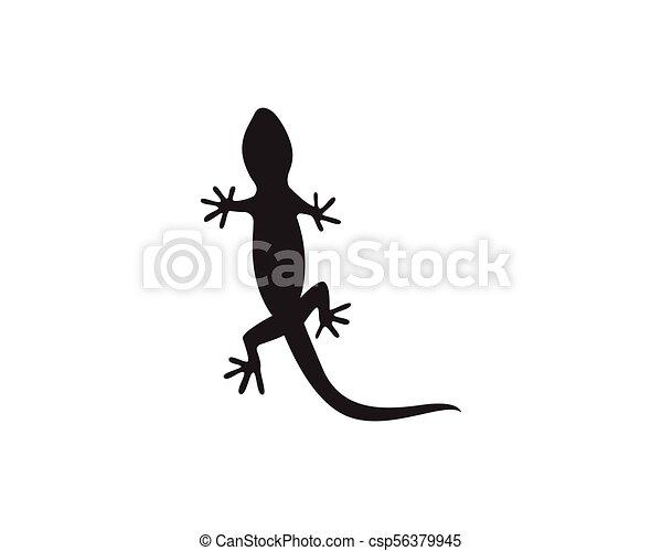 lizard chameleon gecko silhouette black vector 10 eps vector