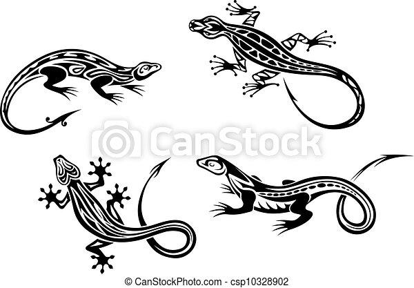 Lizard reptiles - csp10328902