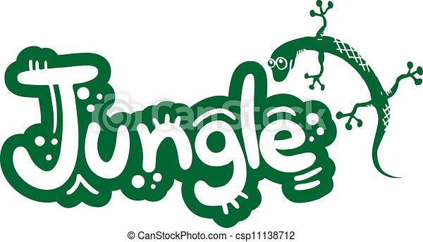 creative design of lizzard and jungle vector clip art search rh canstockphoto com jungle vector ai jungle vector illustration