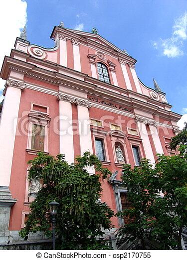 ljubljana, franciscan, 教会 - csp2170755