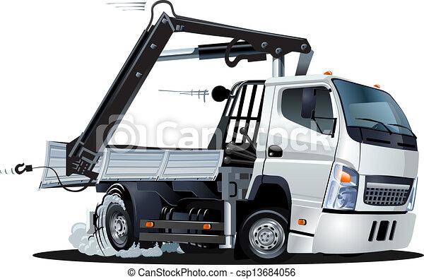 lkw, grue, vecteur, camion, dessin animé - csp13684056