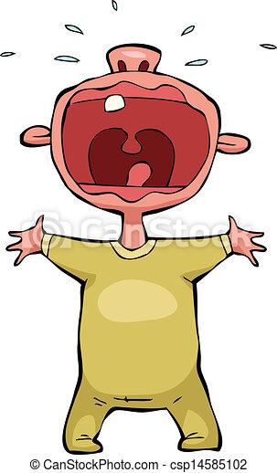 Bebé llorando - csp14585102