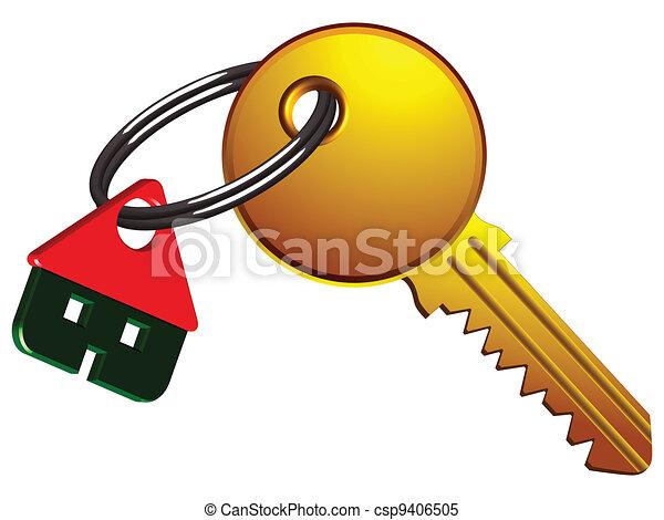 Casa y llave - csp9406505