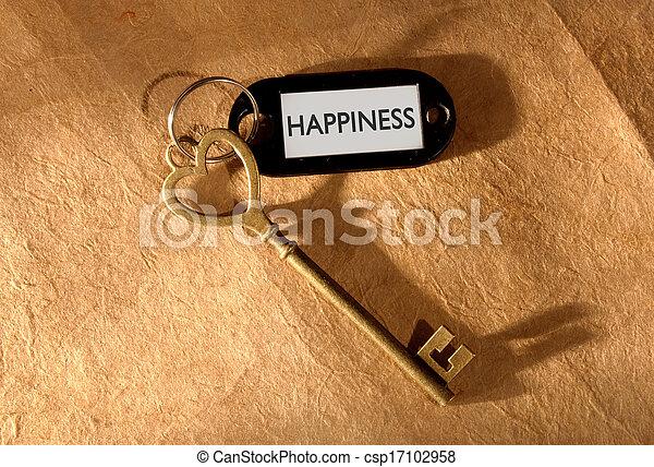llave, felicidad - csp17102958