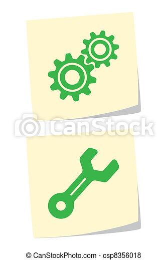Iconos de arrastre y llave inglesa - csp8356018