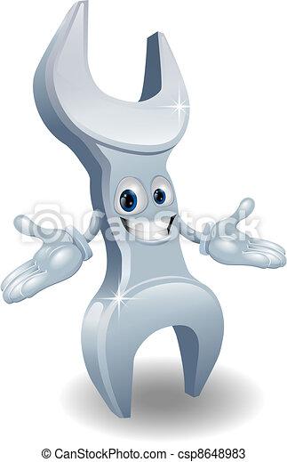 La mascota de la plancha o la llave inglesa ilustrada - csp8648983