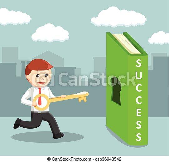 Hombre de negocios con llave - csp36943542