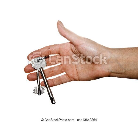 En una llave de mano femenina - csp13643364