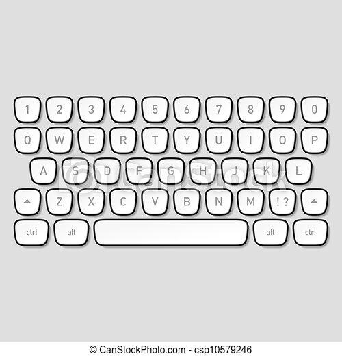 Llaves del teclado - csp10579246