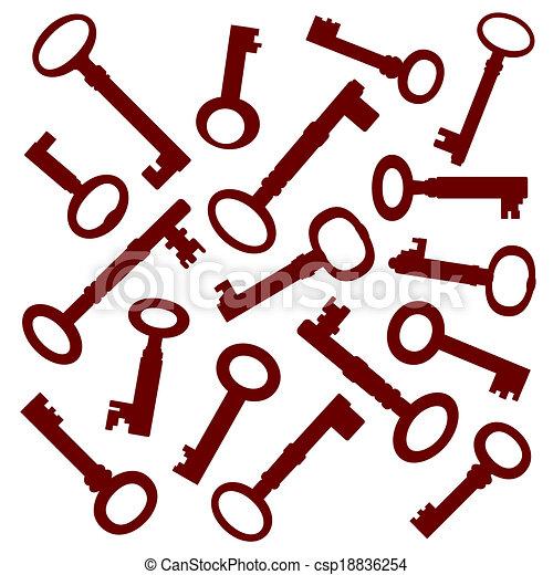 Colección de llaves viejas - csp18836254