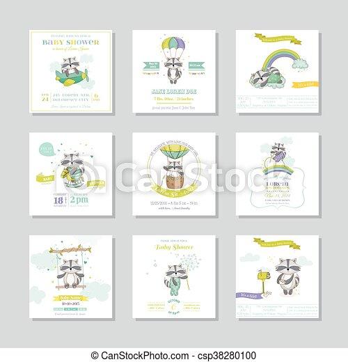 Lista De Baby Shower Nino.Tarjeta De Baby Shower Tarjeta De Bebe Nino Mapache