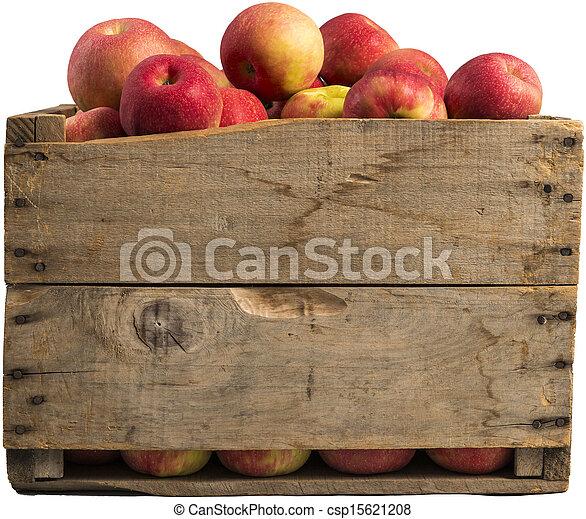 Crate lleno de manzanas - csp15621208