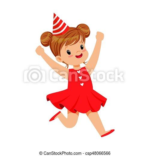 Llevando Cumpleanos Sonriente Childrens Colorido Vestido
