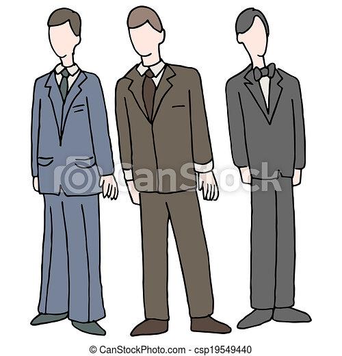 Hombres con atuendo formal - csp19549440