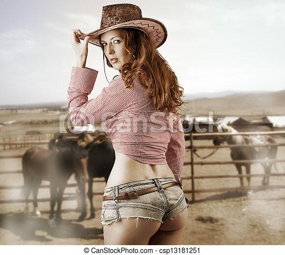 original de costura caliente estilo popular comprar popular llevando, mujer, sombrero, vaquero