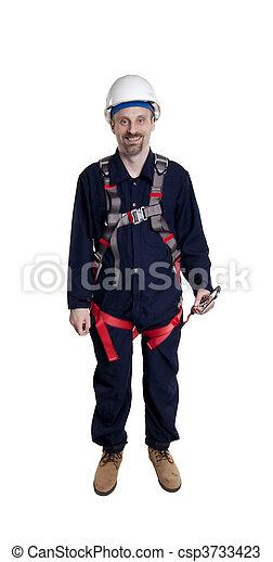 Un hombre con protección de otoño - csp3733423