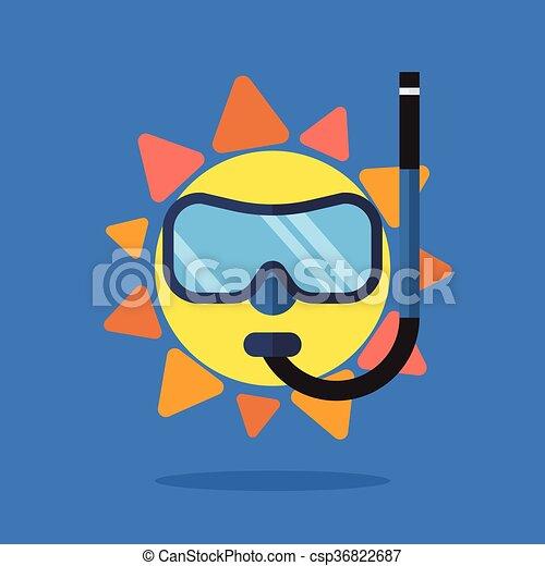 Sol de verano con gafas de sol - csp36822687