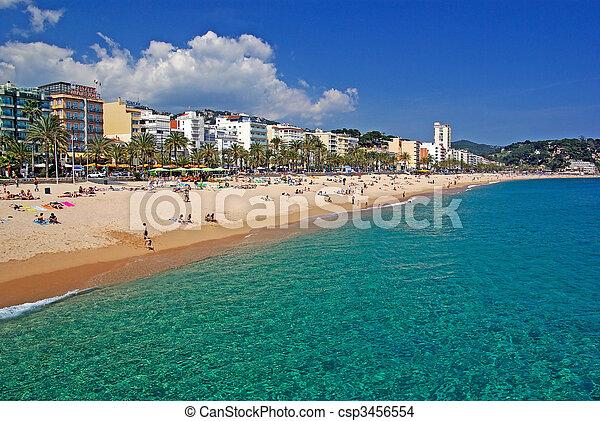 Lloret de Mar beach seascape, Costa Brava, Spain. More in my Gallery. - csp3456554