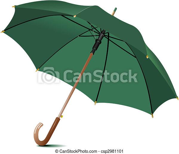 Un paraguas de lluvia abierto. Ilustración de vectores - csp2981101