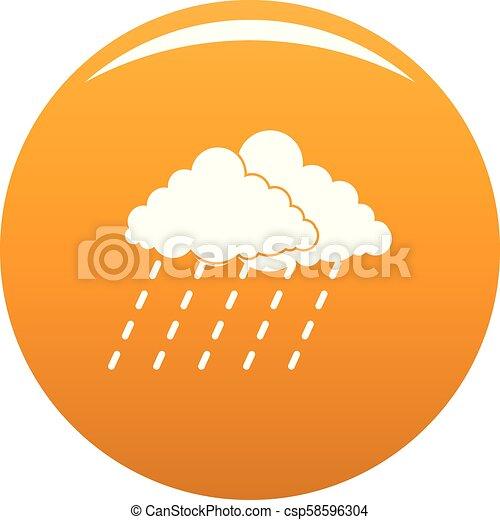 Lluvia de lluvia de nubes vector naranja - csp58596304