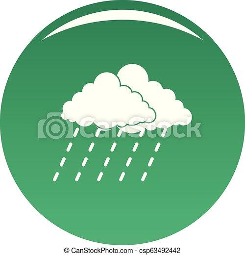 El vector verde de la tormenta de lluvia de nubes - csp63492442