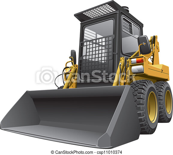 loader.cdr, light-brown, dérapage, conduire - csp11010374