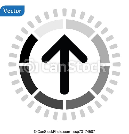 Loading Arrow Icon in trendy flat style isolated on white background. Arrow symbol for your web site design, logo, app, UI. Vector illustration, EPS10 - csp73174507