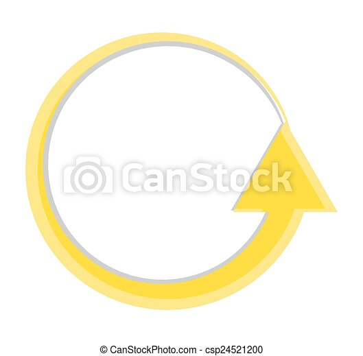 Loading Arrow Icon Abstract Vintage Circular Process Sign