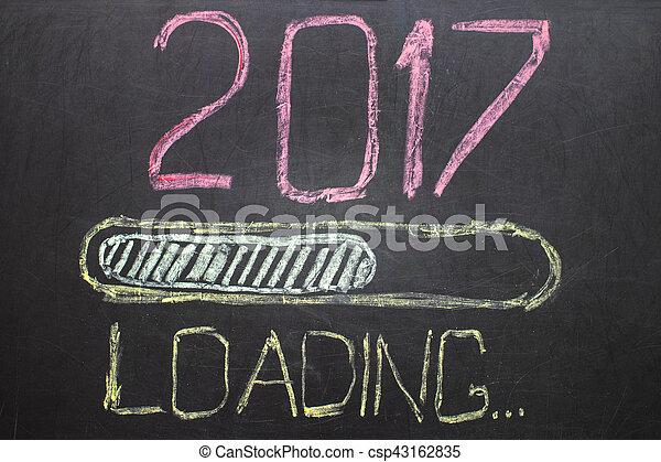 Loading New Year 2017 on Blackboard - csp43162835