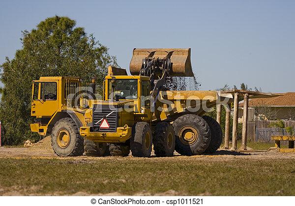 Loading up a dump truck - csp1011521