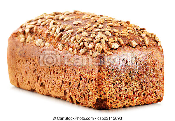 Loaf of bread isolated on white background - csp23115693