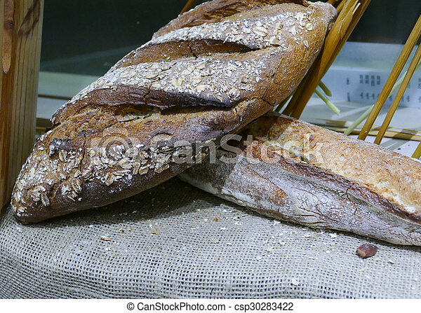 loaf of french bread - csp30283422
