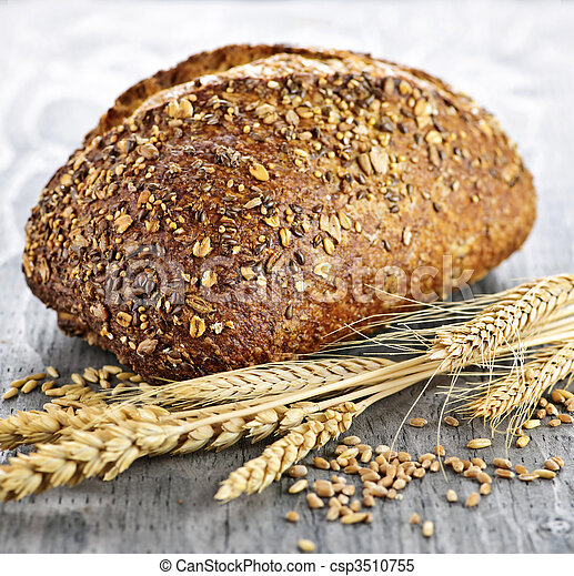 Loaf of multigrain bread - csp3510755