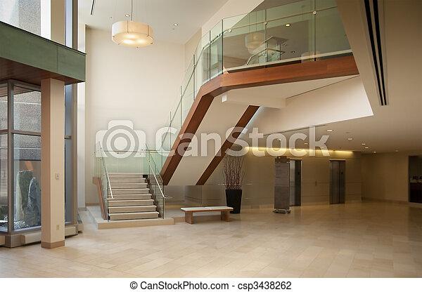 lobby in a modern building - csp3438262