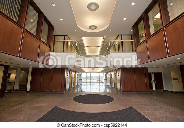 Lobby in office building - csp5922144