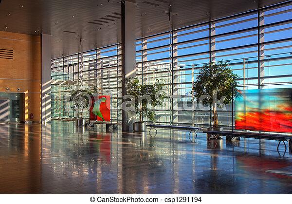 Lobby of Arlanda airport - csp1291194