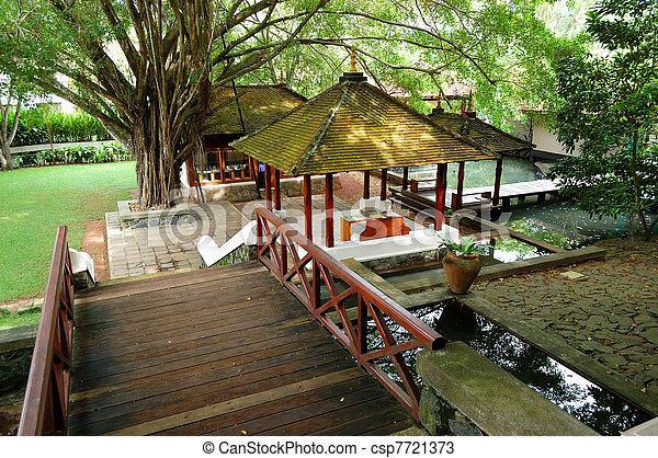 Lobby of the luxury villas, Bentota, Sri Lanka - csp7721373