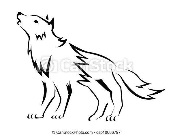 Lobo Ilustracoes E Clip Arte 28 400 Lobo Ilustracoes Desenhos E