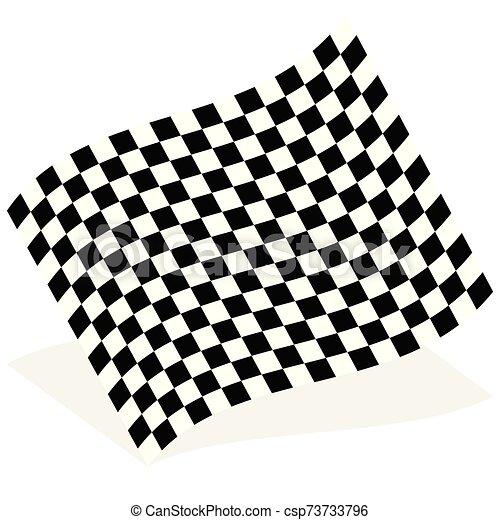 lobogó, faj, árnyék, elszigetelt, elem, fehér, versenyzés - csp73733796