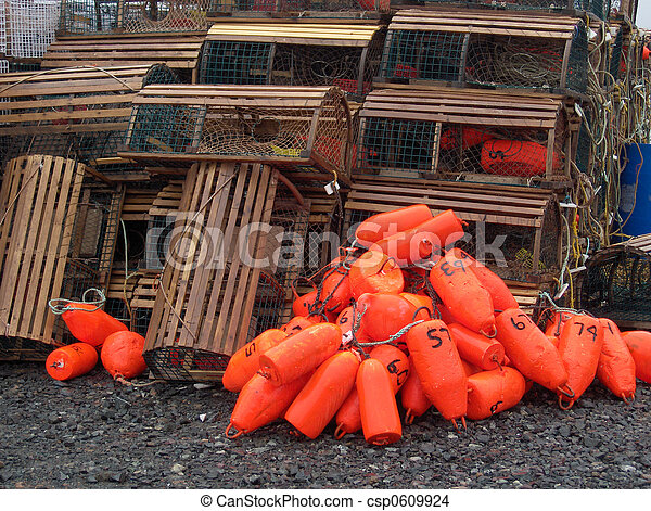 Lobster Bouys - csp0609924