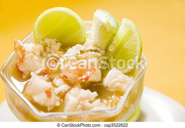 lobster ceviche central american style nicaragua - csp3522622