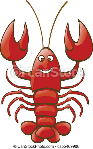 a shiny lobster is smiling to you clip art vector search drawings rh canstockphoto ca lobster clipart png clipart lobster free