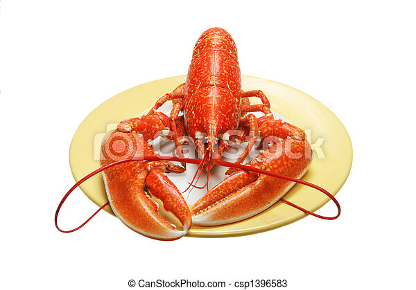 Lobster on plate - csp1396583